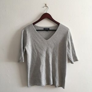100% Cotton Ribbed 3/4 Sleeve T-Shirt